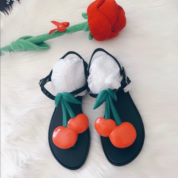 43a5147fddeb5 Melissa super cute red 🍒cherry sandals ❤️